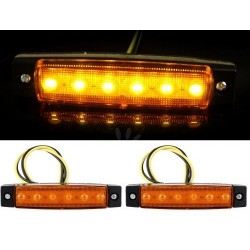 FEU GABARIT 6 LEDS ORANGE 24v