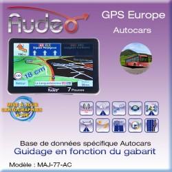 Pack GPS-7010 AUDEO Autocars + MAJ vie et housse offerte