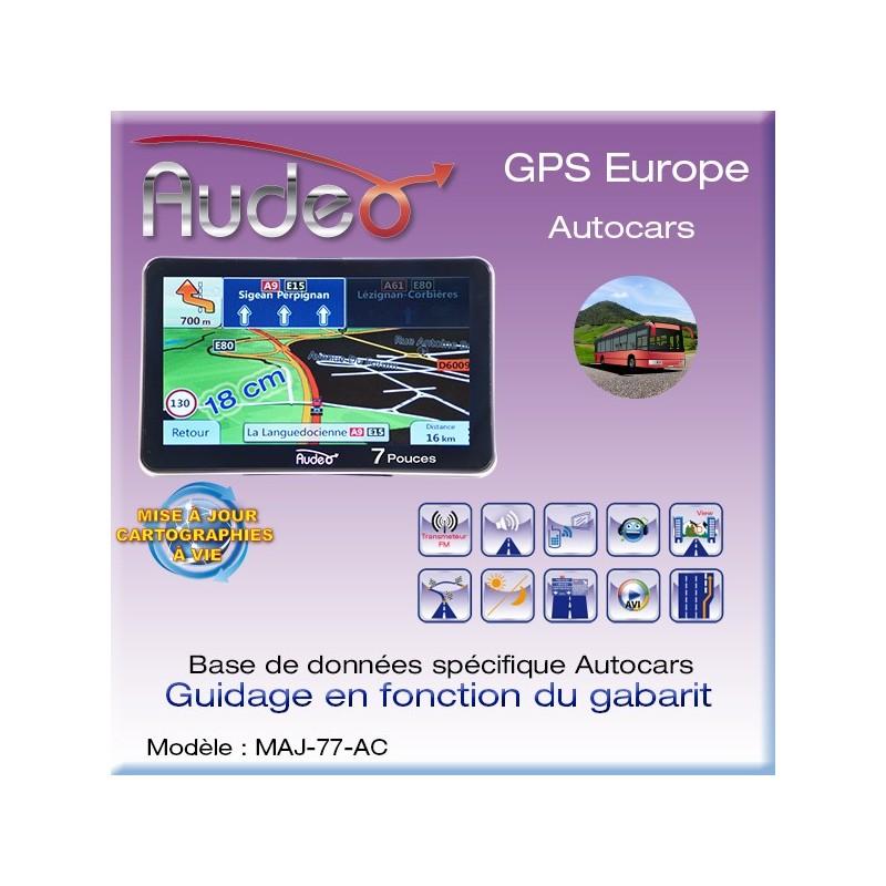 """GPS AUDEO Autocars 7""""+ MAJ vie"""