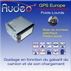 GPS double din Poids-lourds
