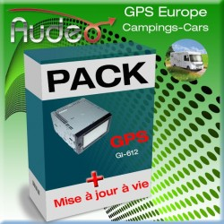 Pack GPS-Gi-612  AUDEO Camping-car + MAJ vie
