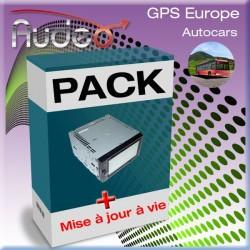 Pack GPS-Gi-612  AUDEO Autocars + MAJ vie et housse offerte